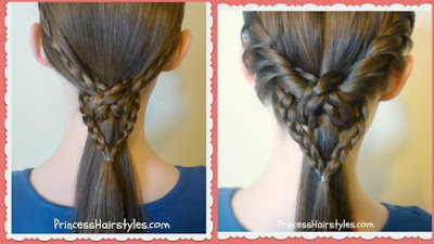 2 easy heart ponytail hairstyles for valentine's day