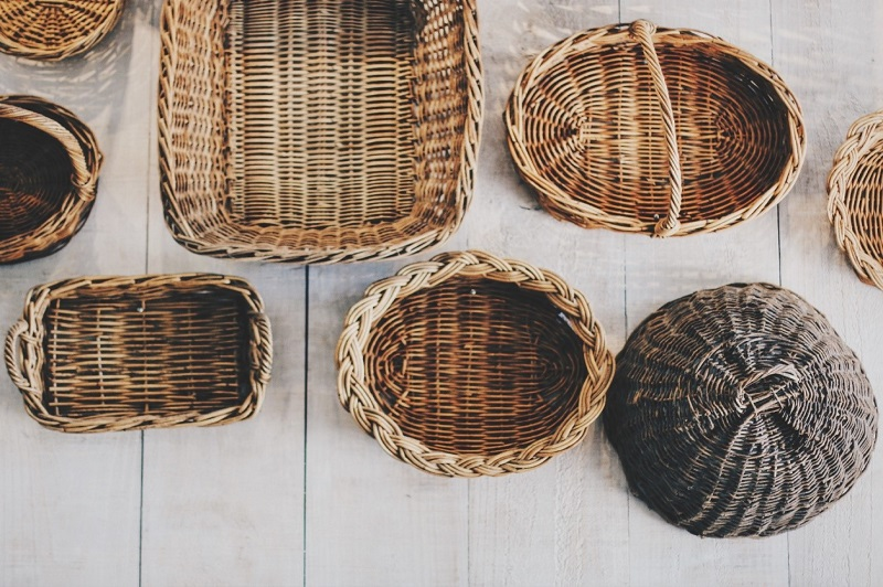 Stock up on storage baskets and boxes