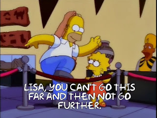 Lisa, you can't go this far and then not go further.