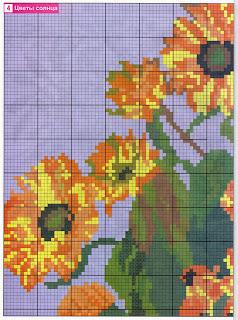 Цветы подсолнухи схема вышивки бисером