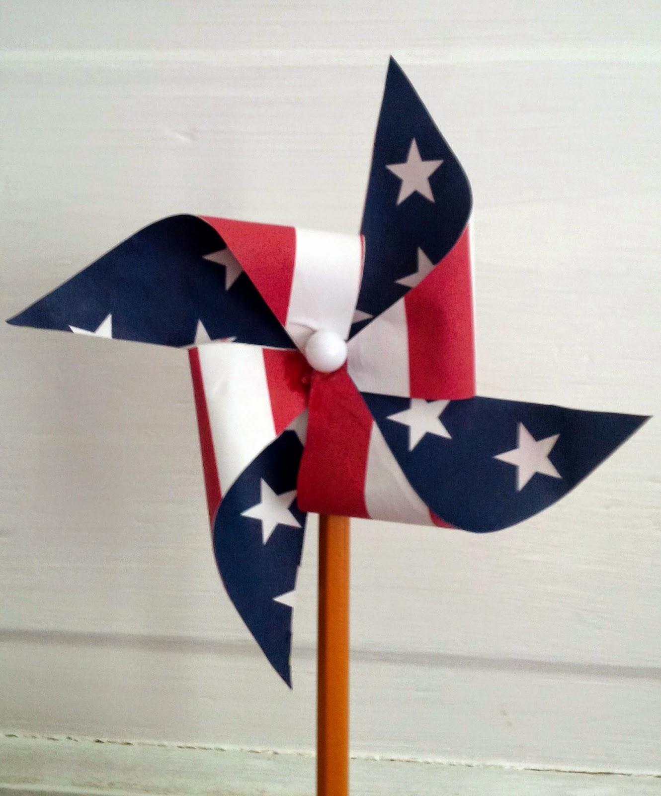 Free Printable Patriotic Pinwheel Template