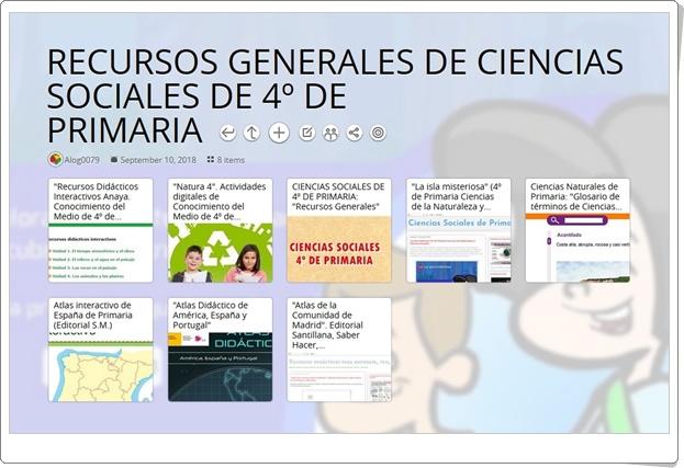 """""""RECURSOS GENERALES DE CIENCIAS SOCIALES DE 4º DE PRIMARIA"""""""
