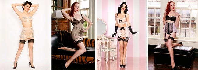 retro style pin up girdle and garter belts
