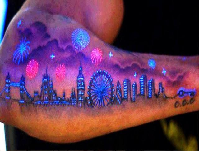 Fireworks UV Tattoos or Black Light Tattoos