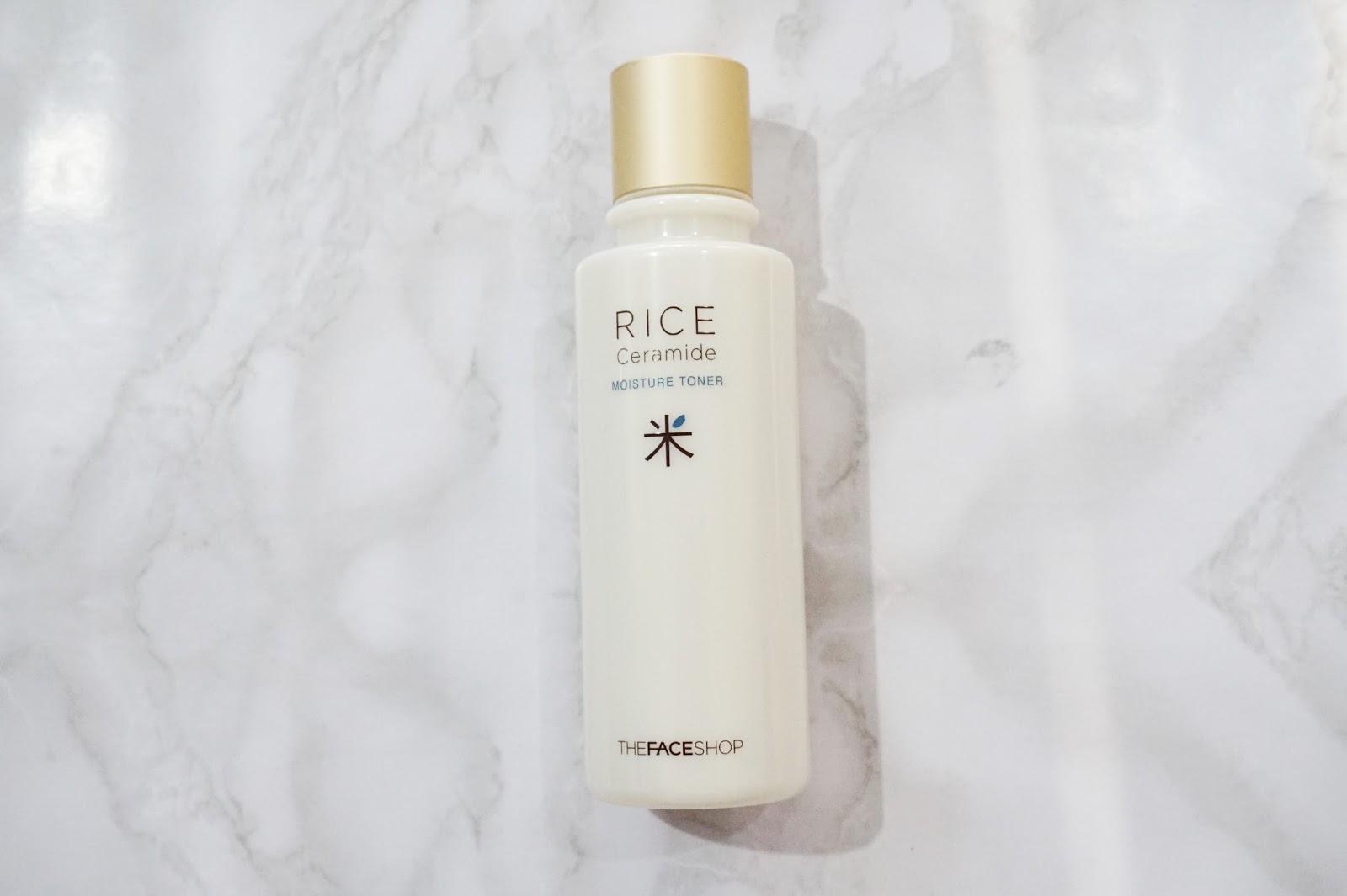 the face shop rice ceramide moisture toner review