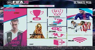 FIFA 19 Graphic Menu For PES 6