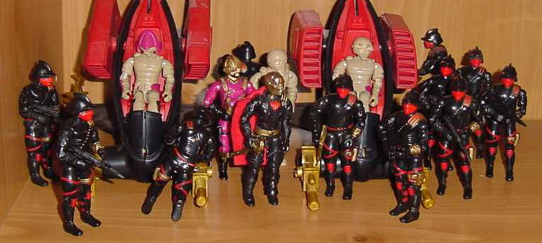 1988 Destro, Iron Grenadier, Ferrett, Nullider, ASP, Voltar