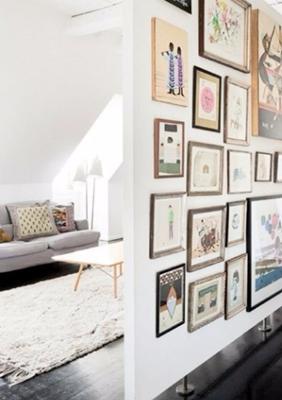 partisi ruangan bergaya minimalis modern unik