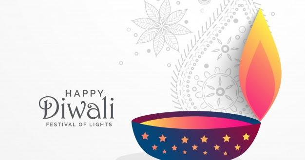 creative diwali festival greeting background with diya