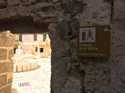 Warning signs to visitors - Castello di Gallipoli