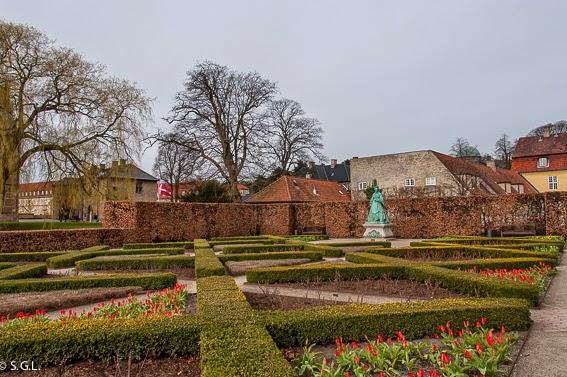 Fotografía de los Jardines del castillo de Rosemberg en Copenhague