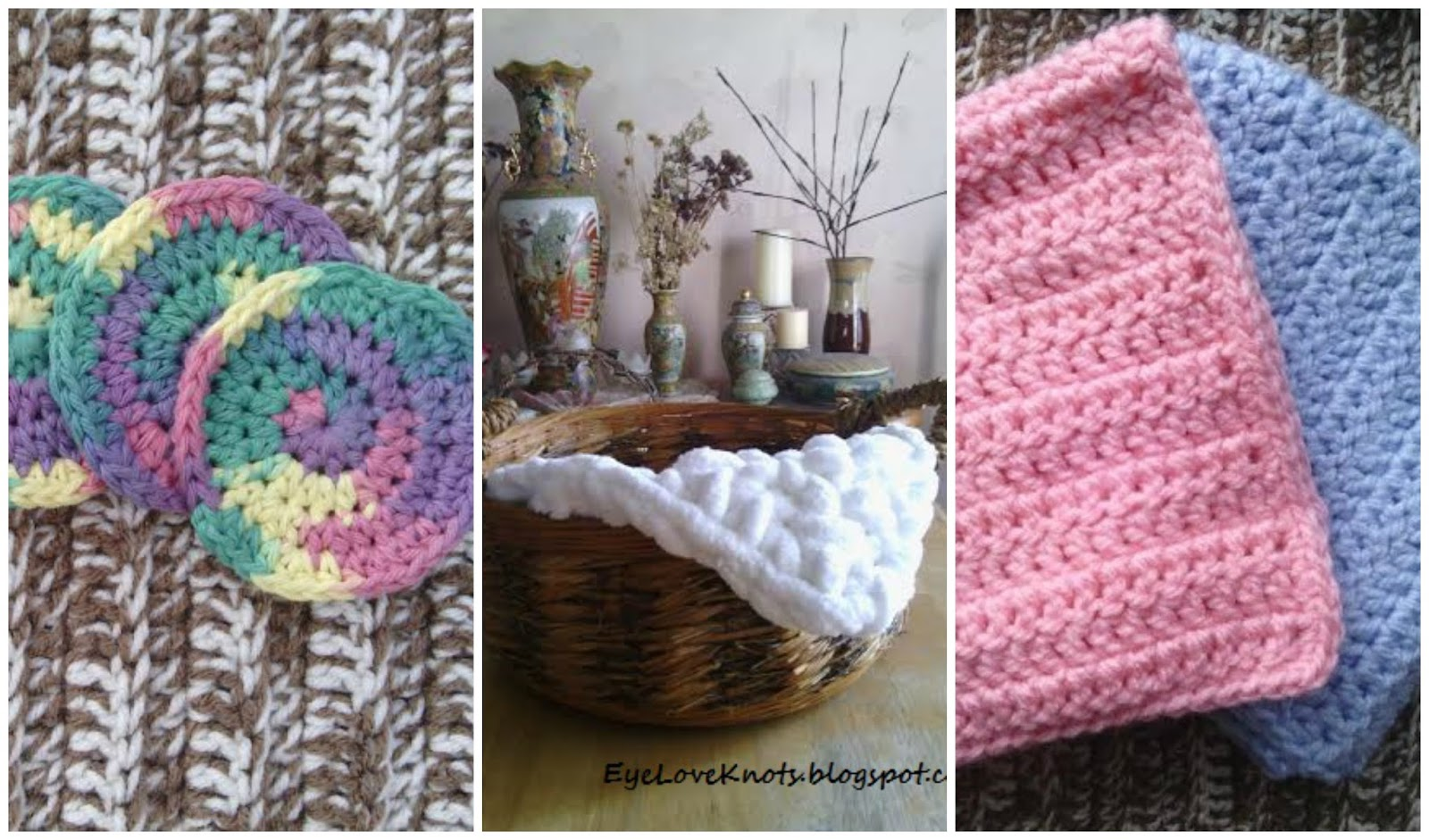 Eyeloveknots eyeloveknots free crochet patterns left rainbow ombre spiral facial scrubbies bankloansurffo Images