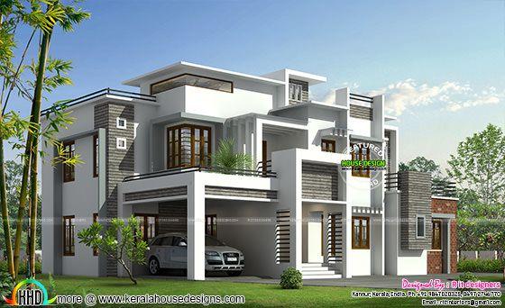 box model contemporary house kerala home design and