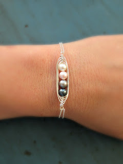 pea pod bracelet for mother's day gift