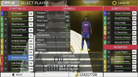 First Touch Soccer MOD FIFA 18 ULTIMATE By Iqbal Apk + Data Obb Android Terbaru