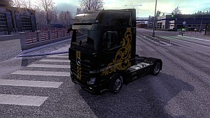Black & Yellow skin for Mercedes MP4