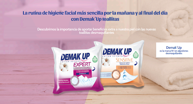 Toallitas Demak Up Sensitive y Toallitas Demak Up Expert
