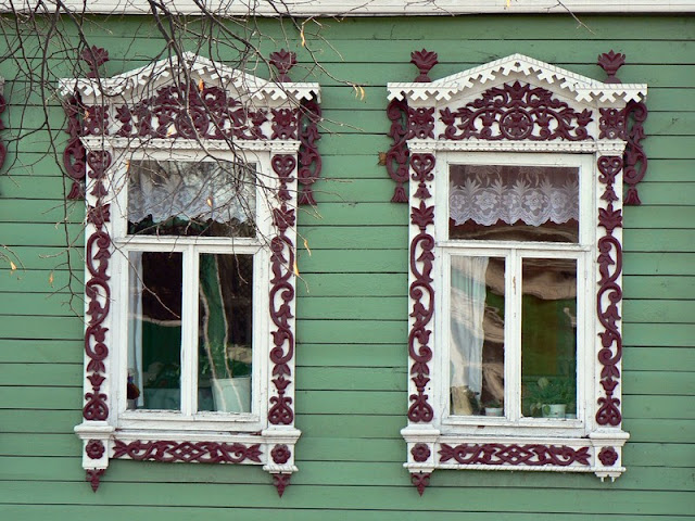 Window Frames Russian Houses