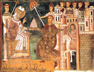Pope Sylvester I and Constantine