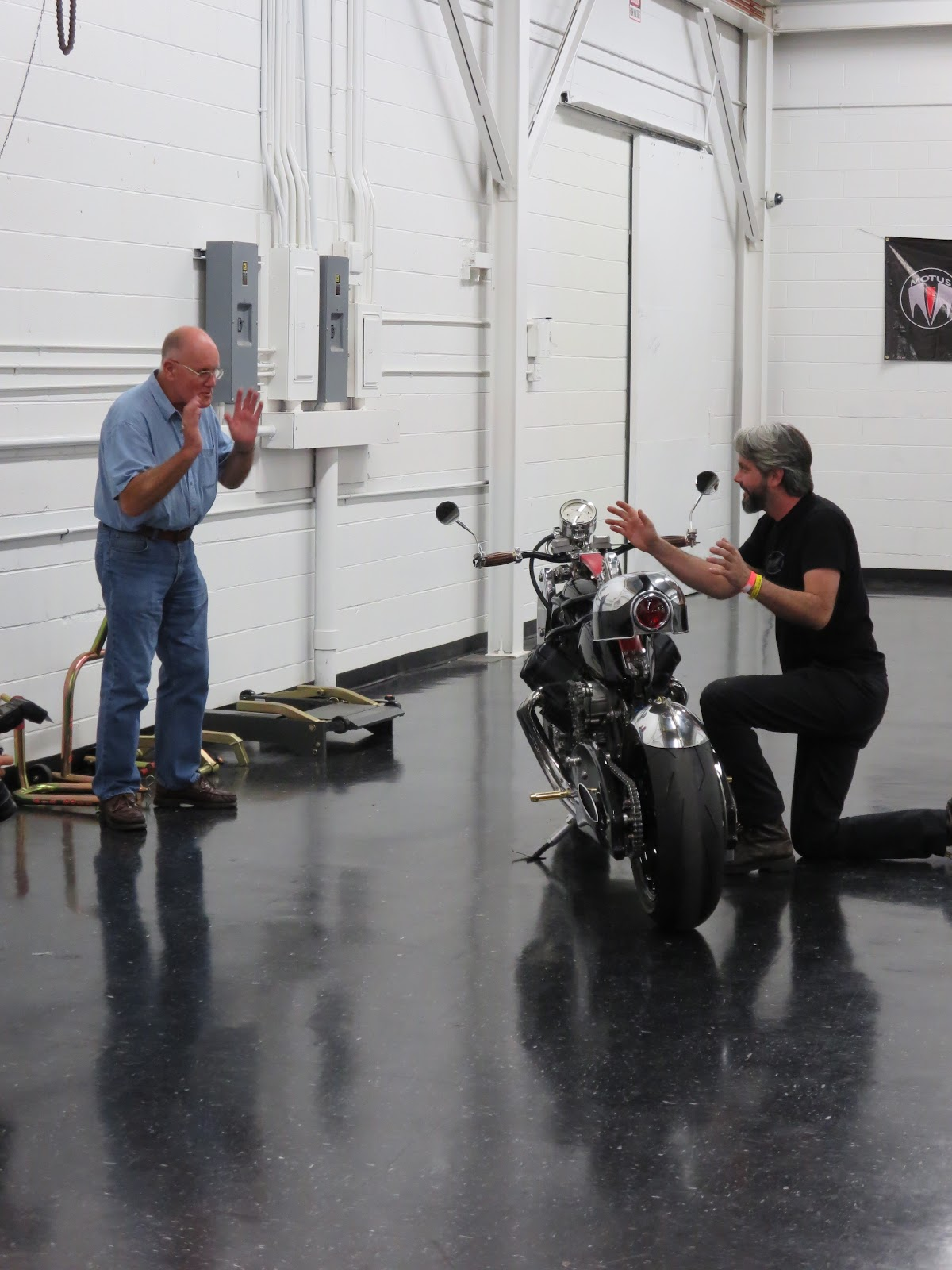 Alan Cathcart and JT Nesbitt Bienville Legacy Motorcycle