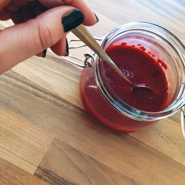 rezept, grinsestern, chiasamen, chiamarmelade, marmelade, diy, selbermacher