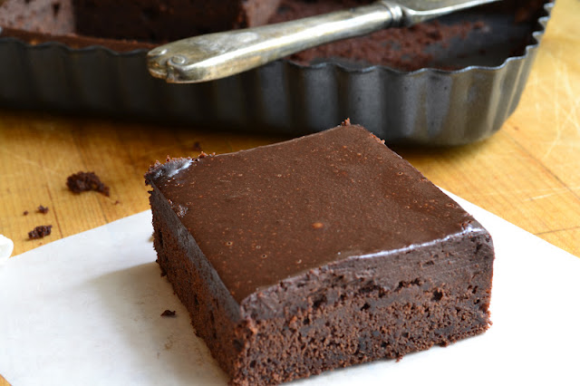 Cold Chocolate Snacking Cake is dark, moist, dense, and ultra chocolate-y! | theviewfromgreatisland.com