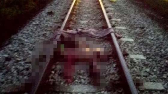 Lelaki Berkecai Digilis Keretapi Akibat Tidur Atas Landasan