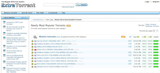 extratorrent one of the biggest torrent websites