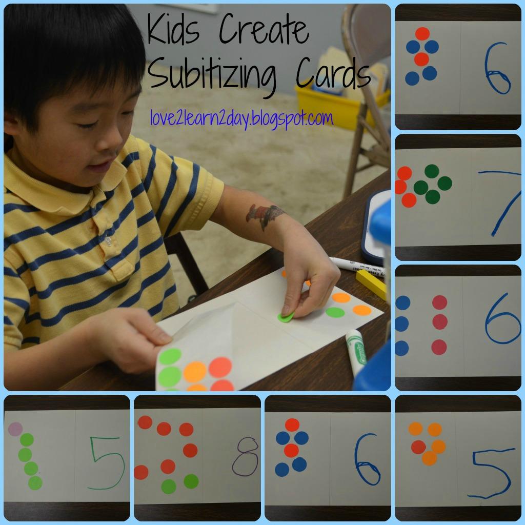Love2learn2day Kids Create Subitizing Cards