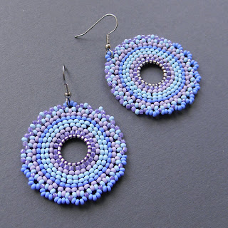 beadwork hoop earrings beaded jewelry seed bead brick beadwork beadweavinh blog
