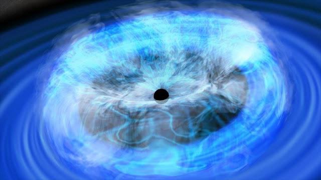 Descubren un agujero negro que gira sobre sí mismo en galaxia