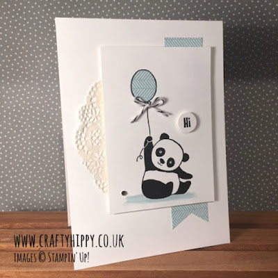 The Party Pandas stamp set is free from Stampin' Up! when you spend £45 on Stampin' Up! products