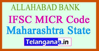 ALLAHABAD BANK IFSC MICR Code Maharashtra State