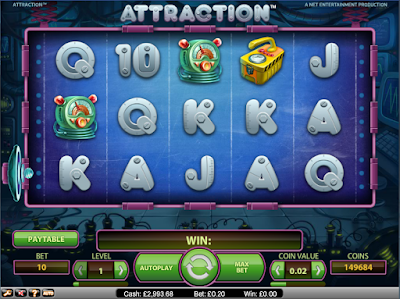 play attraction video slot for free