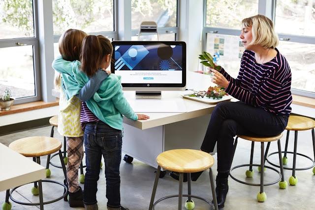 так выглядит урок с 3D-моноблоком HP Sprout Pro