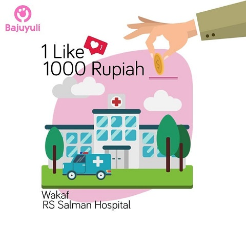 Postingan Instagram Bajuyuli - 1 Like 1000 Rupiah Wakaf RS Salman Hospital