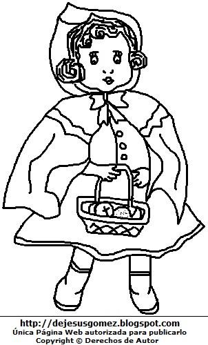Dibujo de la Caperucita Roja para colorear, pintar e imprimir. Dibujo de Caperucita Roja de Jesus Gómez