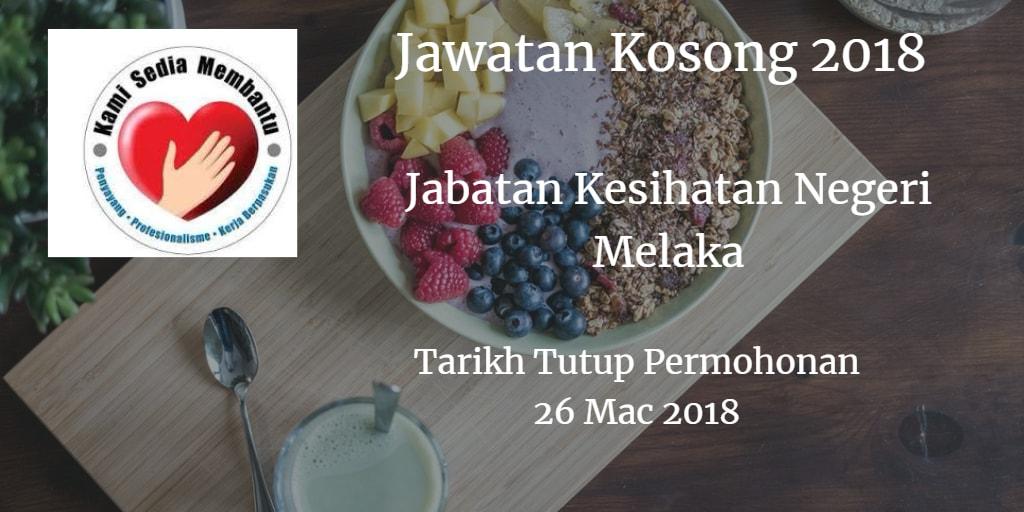 Jawatan Kosong JKN Melaka 26 Mac 2018