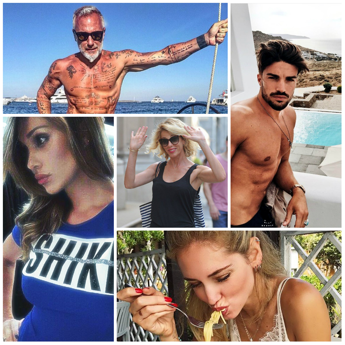 Celebrità italiane su Instagram: da Chiara Ferragni a Mariano di Vavio e Gianluca Vacchi