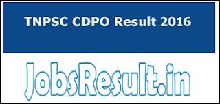 TNPSC CDPO Result 2016