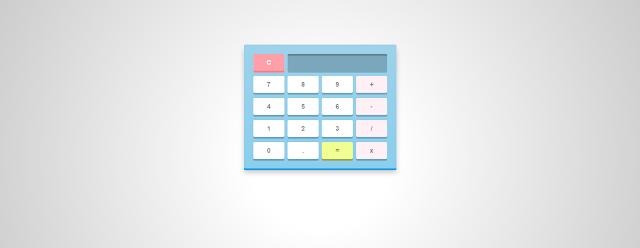 Kalkulator Sederhana Gabungan CSS, HTML, & JavaScript