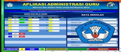 Aplikasi dan Daftar Nilai SMA/SMK Kurikulum 2013