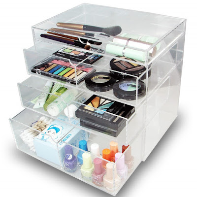Shop for Acrylic Cosmetics Organizer Holder Box at Nile Corp