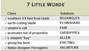Southern Us Fast Food Chain  Little Words