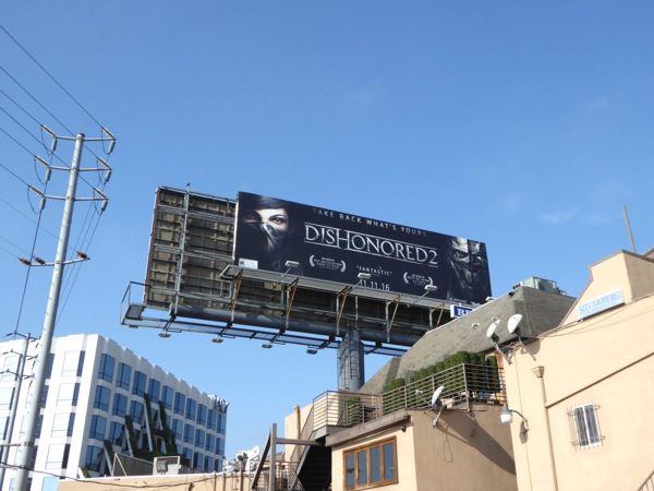 Dishonored 2 billboard