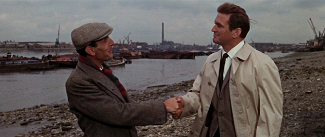 Eric Sykes and Rod Taylor in The Liquidator (1965)