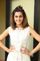 Taapsee Pannu in cream Sleeveless Kurti and Leggings at interview about Anando hma ~  Exclusive Celebrities Galleries 052.JPG