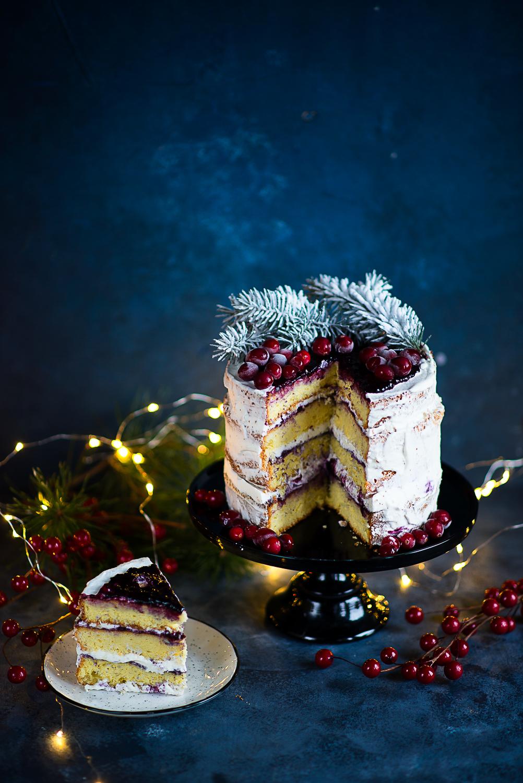 Torcik Bożonarodzeniowy w stylu naked cake i recenzja miksera Vintage Cuisine