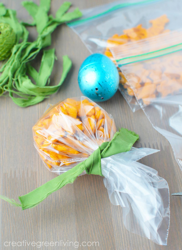 carrot shaped easter treats - perfect easter basket idea for toddlers