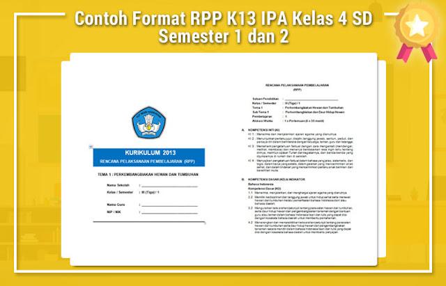 Contoh Format RPP K13 IPA Kelas 4 SD Semester 1 dan 2